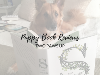 puppy book reviews, dogs with books, puppies with books
