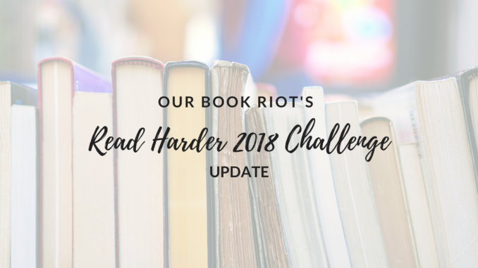 book riot read harder challenge 2018, a one sitting book, a comic written and illustrated by the same person, a celebrity memoir, a book of genre fiction in translation, book riot read harder suggestions