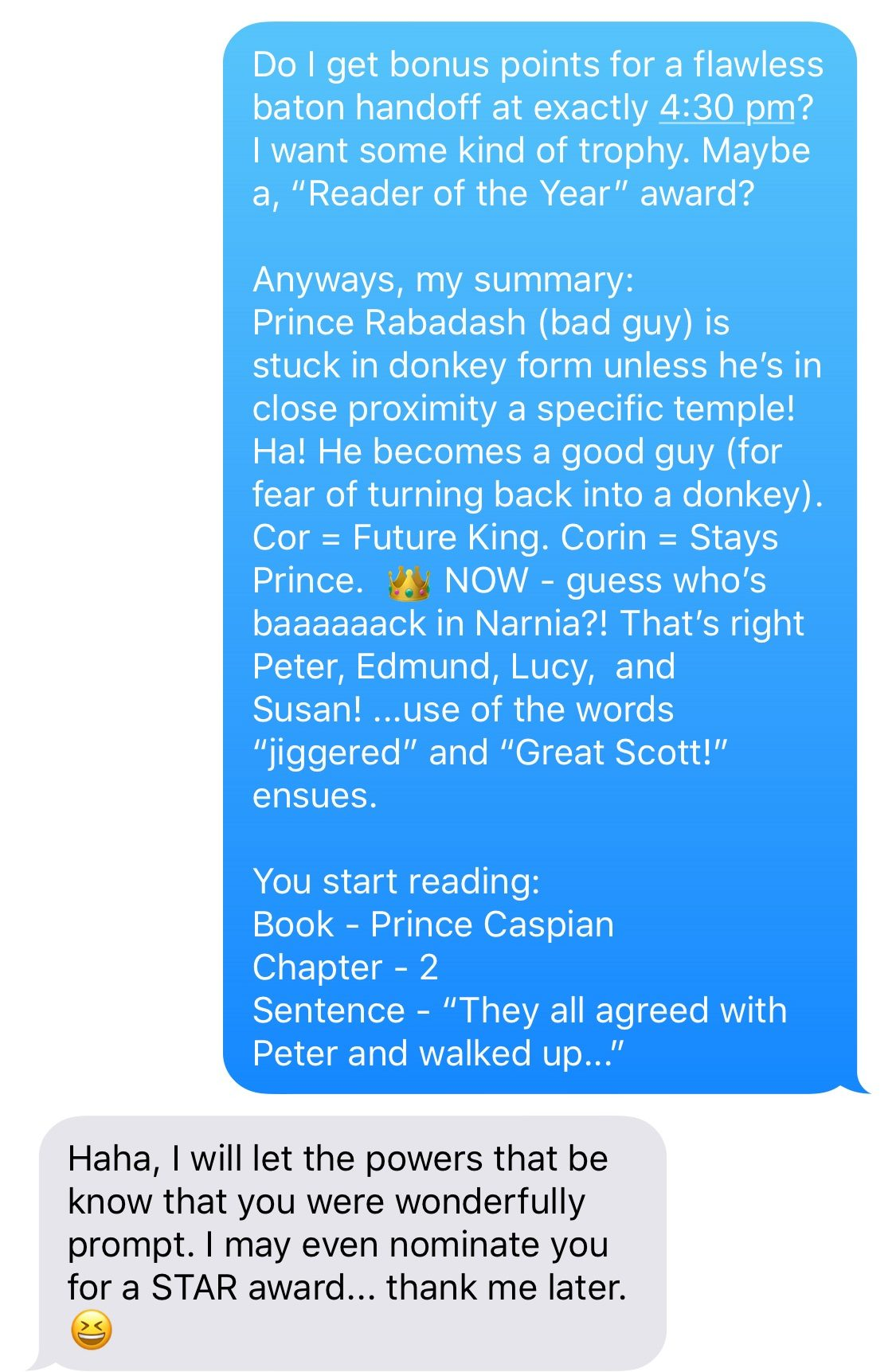 Chronicles of Narnia Summary 21 · Page Chaser