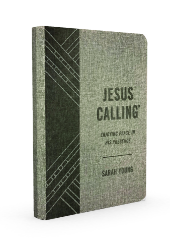 Jesus Calling Gray Edition Deluxe Fabric Cover