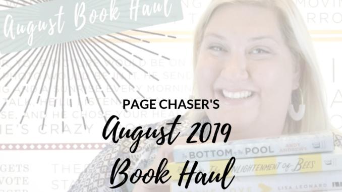 August 2019 Book haul
